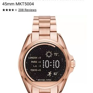 Michael Kors Access Bradshaw Smartwatch Rose Gold